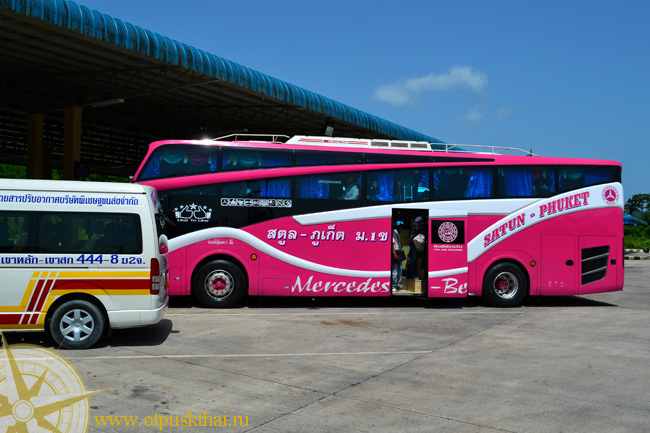 Bus station in Krabi