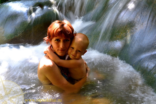 Горячий водопад Краби