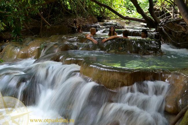 Hot sring waterfall krabi