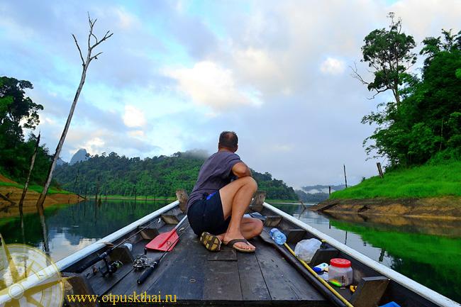 Рыбалка в Таиланде на озере Чео Лан в Као Сок
